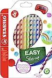 Ergonomischer Buntstift für Rechtshänder - STABILO EASYcolors - 12er Pack mit Spitzer - mit 12...