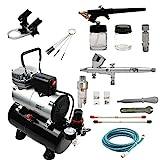 ABEST Airbrush Kompressor-Kit: Luftschlauch, Airbrush-Halter, Minifilter, Double-Action-Mechanismus...