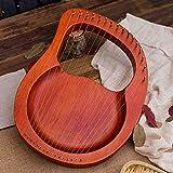 Tragbare 16 String Kleine Harfe, Harfe Metallsaiten, Mahagoni Lye Harfe, mit Stimmschlüssel und...