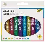 folia 574 - Glitter Glue, Klebestifte mit Glitzer, 10 Stifte sortiert in 10 Farben, je 9,5 ml - zum...