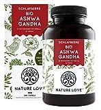 NATURE LOVE® Bio Ashwagandha - Hochdosiert mit 1950mg je Tagesdosis - 240 Kapseln - Hochwertige...
