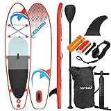 Nemaxx PB305 Stand up Paddle Board 305x76x10cm, rot/blau - SUP, Surfbrett, Surf-Board - aufblasbar &...