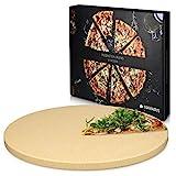 Navaris Pizzastein XL für Backofen Grill aus Cordierit - Pizza Stein Ofen Brot Backen Flammkuchen -...