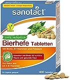 sanotact Bierhefe Tabletten • 400 Tabletten • 100% natürliche Bierhefe vegan • Mit Biotin...