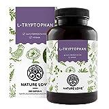 NATURE LOVE® L-Tryptophan – 240 Kapseln, laborgeprüft, hochdosiert mit 500 mg je Tagesdosis,...