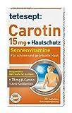 tetesept Carotin 15 mg + Hautschutz – Beta-Carotin & Antioxidantien – 1 x 30 Tabletten...