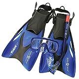Aqua Lung Sport Schnorchelset für Kinder, Taucherbrille größenverstellbar S blau