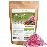 Acerola Pulver - 300 g (6,6 Monate Vorrat) - Natürliches Vitamin C - 200 Tagesportionen mit 1500 mg...
