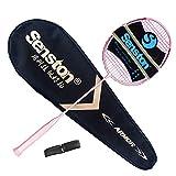 Senston Carbon Badmintonschläger N80YTP Ultraleicht Profi 6U Graphit Badminton Schläger mit...