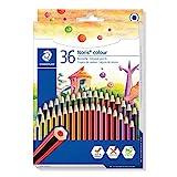 STAEDTLER 185 CD36 Noris Colour Buntstift (erhöhte Bruchfestigkeit, Sechskantform, attraktives...