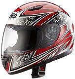 Protectwear SA03-RT-XS Kinder Motorradhelm, Integralhelm, Größe XS (Youth L), Rot/Silber