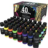 Zenacolor - Tempera Farbe Kinder - Set aus 40x60ml Tuben Plakatfarbe - Matte Malfarben, Neon,...