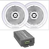 Lyndahl Lautsprecher-Set, Bluetooth Verstärker 4 Kanal CS200BT-AMP und 2-Wege Einbaulautsprecher...