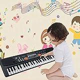 TianYaer Keyboard, Multifunktions Digital Piano 61 Tasten Keyboard Set mit Mikrofon,...