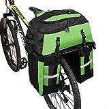 PELLOR Fahrrad Gepäcktaschen, 3 in 1 Multifunction 70L Gepäckträger Tasche Reißfest Groß...