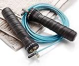 STRONGEAR Premium Springseil - Jump Rope mit Tasche + Quick Starter Guide - Zwei verstellbare Seile - Anti-Rutsch Griffe - Profi Zubehör für Crossfit, Boxen, HIIT, MMA