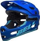 BELL Unisex-Erwachsene Super 3r MIPS Fahrradhelm, mat Blue/Bright Blue, S