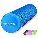 arteesol Faszienrolle, Fitness Faszienrolle 12/18/24/36 Zoll Runde Faszienrolle für Muskelmassage...