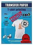 PPD A4 x 10 Blatt PREMIUM Inkjet T-Shirt Transferpapier für alle Tintenstrahldrucker - TRANSPARENTE...