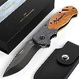 BERGKVIST® 3-in-1 Taschenmesser K20 Zweihand-Messer darf geführt Werden I scharfes Klappmesser I...