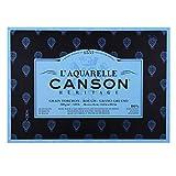 Canson Héritage Aquarellblock rundumgeleimt, 36 x 51 cm, 20 Blatt, 300 g/m², Grobkorn