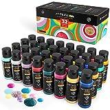 Arteza KIDS Temperafarbe, 32-er Set, 60ml Flaschen, Posterfarbe für Bastelprojekte, Schwamm-Malerei...