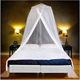 EVEN NATURALS Luxus MOSKITONETZ Bett, großes Mückennetz für Einzelbett, feinste Löcher, rundes...
