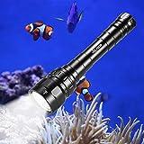 Volador Tauchen Taschenlampe, 3100 Lumen Unterwasser Taschenlampe, Unterwasser100m wasserdicht...