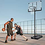 MaxKare Basketballständer Höhenverstellbar Basketballanlage Basketballkorb mit befüllbare...