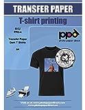 PPD 5 x A4 Blatt Inkjet PREMIUM T-Shirt Transferpapier Transferfolie Bügelfolie für dunkle...
