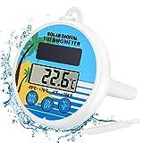 Gafild Digitales Pool Solarthermometer,solar Floating Pool Thermometer einfach zu lesen und...