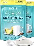 Erythrit 100% Erythritol reiner Zuckerersatz Süßungsmittel 2x 1000g - wiederverschließbarer...