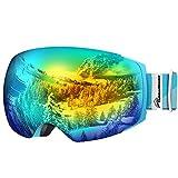 OutdoorMaster Unisex Skibrille PRO für Damen und Herren, Snowboard Brille Schneebrille 100%...