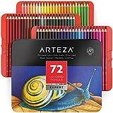 Arteza Buntstifte 72er-Set, Malstifte in tragbarer Metallbox, mischbare Farbstifte mit bruchsicheren...