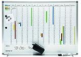 Genie AP2000 Jahresplaner-Beschreibbare Magnettafel (Monats-, Jahreseinteilung, Aluminium Rahmen, 77...