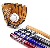 TruWare Baseball Set Baseballschläger + Baseball-Handschuh + Ball | Super Einsteiger-Set