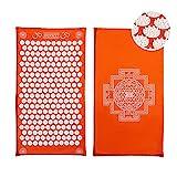 ShaktiMat Akupressurmatte original seit 2007 | Orange Massagematte zur Durchblutung und Entspannung...