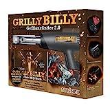 Steinel Grilly Billy 2.0 mit Heißluftpistole HL 1400 S, Grillanzünder-Düse und Rezeptbuch, 1400 W...