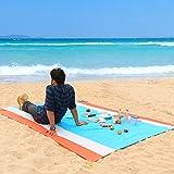 WolfWise 270x210 cm XXL Stranddecke, Wasserabweisende Picknickdecke Campingdecke Strandtuch, aus...