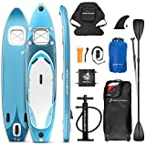 Messe-Neuheit 2020! Premium WBX SUP-Board mit 2in1 Sichtfenster |Action-Cam Ready +9in1 Set |...