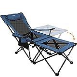 Asteri Campingstühle, zusammenklappbar, Liegestuhl, tragbar, mit Getränkehalter, abnehmbarem...