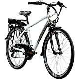 Zündapp E Bike 700c Trekkingrad Pedelec Z802 Elektrofahrrad 21 Gänge 28 Zoll Rad (grau/grün, 48...