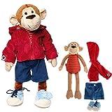 Sigikid 40989 - Mädchen und Jungen, Stofftier Lern-Affe, Spielerisch An Ausziehen lernen,...