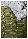 Doppelschlafsack, Ohuhu Schlafsack 220 x 150cm Erwachsene Deckenschlafsack mit 2 Gratis Kissen und...