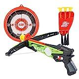 deAO Spielzeug Armbrust Set mit Saugnapfpfeilen und Zielbrett - Tolle Zielspiele für Kinder im...