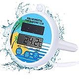 Bearbro Solarbetriebenes Pool Digitales Thermometer, Digitales Poolthermometer Solarbetriebenes...