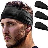Stirnband Damen und Herren | Haarband Sport Schweißband mit Anti-Rutsch-Streifen | Sport Stirnband...