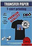 PPD 5 x A4 Inkjet PREMIUM T-Shirt Transferpapier für alle Inkjetdrucker – Speziell für dunkle...