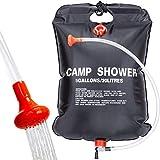 Qdreclod Campingdusche Solardusche Tasche, 20L Tragbare Solar Gartendusche Outdoor Warmwasser Dusche...