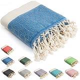 HolyDays® Strandtuch XXL 100x180cm aus 100% Baumwolle Oeko-TEX® | Hamamtuch | Badetuch | Saunatuch...